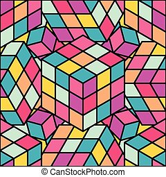 colored cube pattern