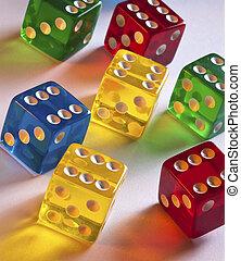 Colored Dice - Gambling