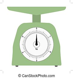 colored, domestic weigh-scales