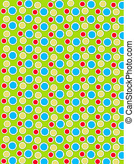 Colored Dots on White Dots Lime Green - Background image is...
