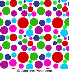 Colored Dots Seamless Pattern