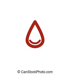 colored drop of blood line icon - colored drop of blood line...