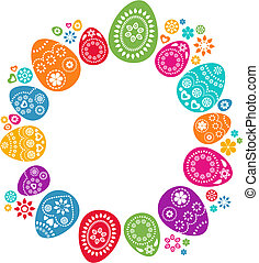 Colored Easter eggs - A set of colored Easter eggs - vector...