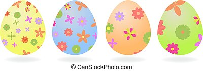 Colored Easter eggs. Vector illustration .