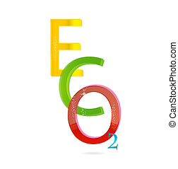 colored eco sign
