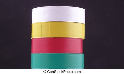 Colored electrical tape is different - Set of different...