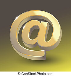 Colored email icon sign.