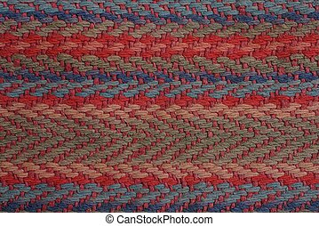 colored fabric texture from a piece of carpet