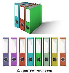 Files and Folders Vector - colored Files and Folders Vector...