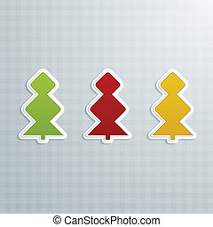 Colored Fir-Trees. Set of Five