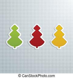 Colored Fir-Trees. Set of Six