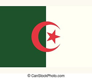 Colored flag of Algeria