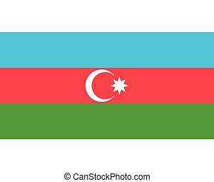 Colored flag of Azerbaijan