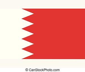 Colored flag of Bahrain