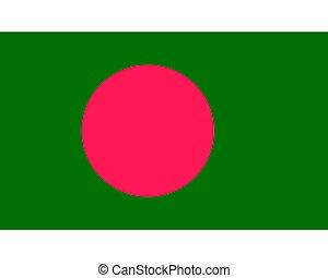 Colored flag of Bangladesh
