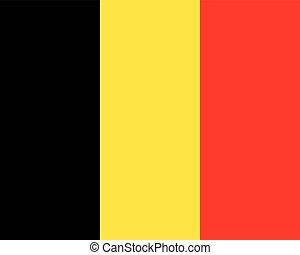 Colored flag of Belgium