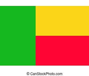 Colored flag of Benin