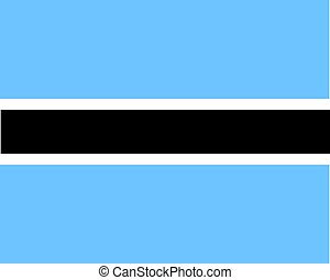 Colored flag of Botswana