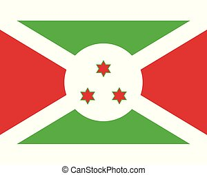 Colored flag of Burundi