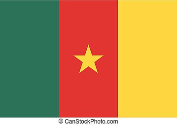 Colored flag of Cameroon