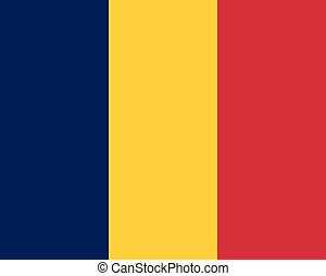 Colored flag of Chad