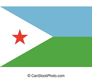 Colored flag of Djibouti