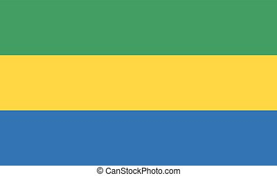 Colored flag of Gabon