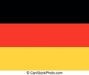 Colored flag of Germany