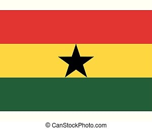 Colored flag of Ghana