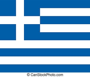 Colored flag of Greece