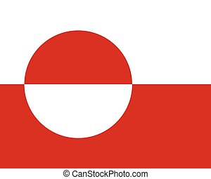 Colored flag of Greenland