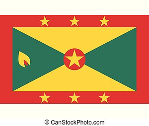 Colored flag of Grenada