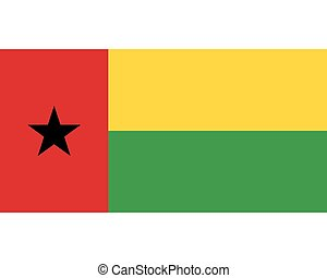 Colored flag of Guinea-Bissau