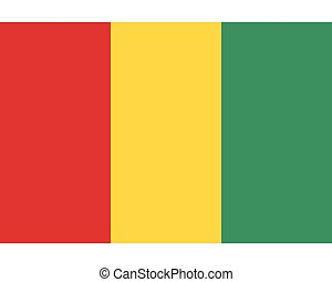 Colored flag of Guinea