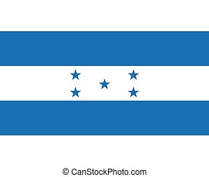 Colored flag of Honduras