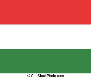 Colored flag of Hungary