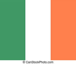 Colored flag of Ireland