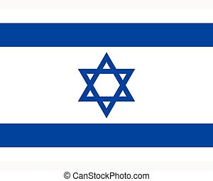 Colored flag of Israel