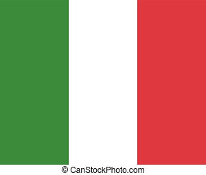 Colored flag of Italy