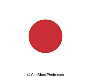 Colored flag of Japan