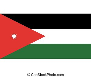 Colored flag of Jordan