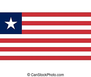 Colored flag of Liberia