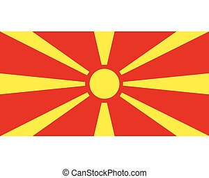 Colored flag of Macedonia