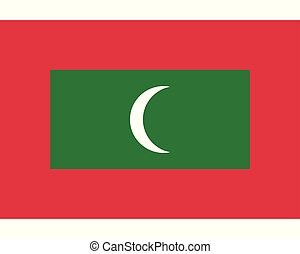 Colored flag of Maldives
