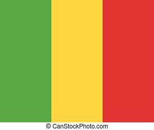 Colored flag of Mali