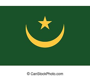Colored flag of Mauritania
