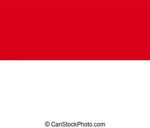 Colored flag of Monaco