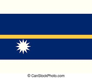 Colored flag of Nauru