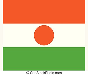 Colored flag of Niger