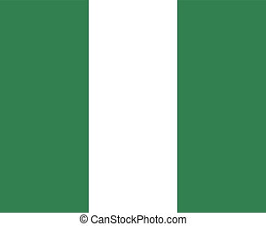 Colored flag of Nigeria